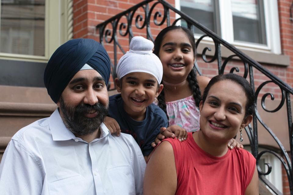 Mayor Bhalla with his family. (Office of Ravinder Bhalla)