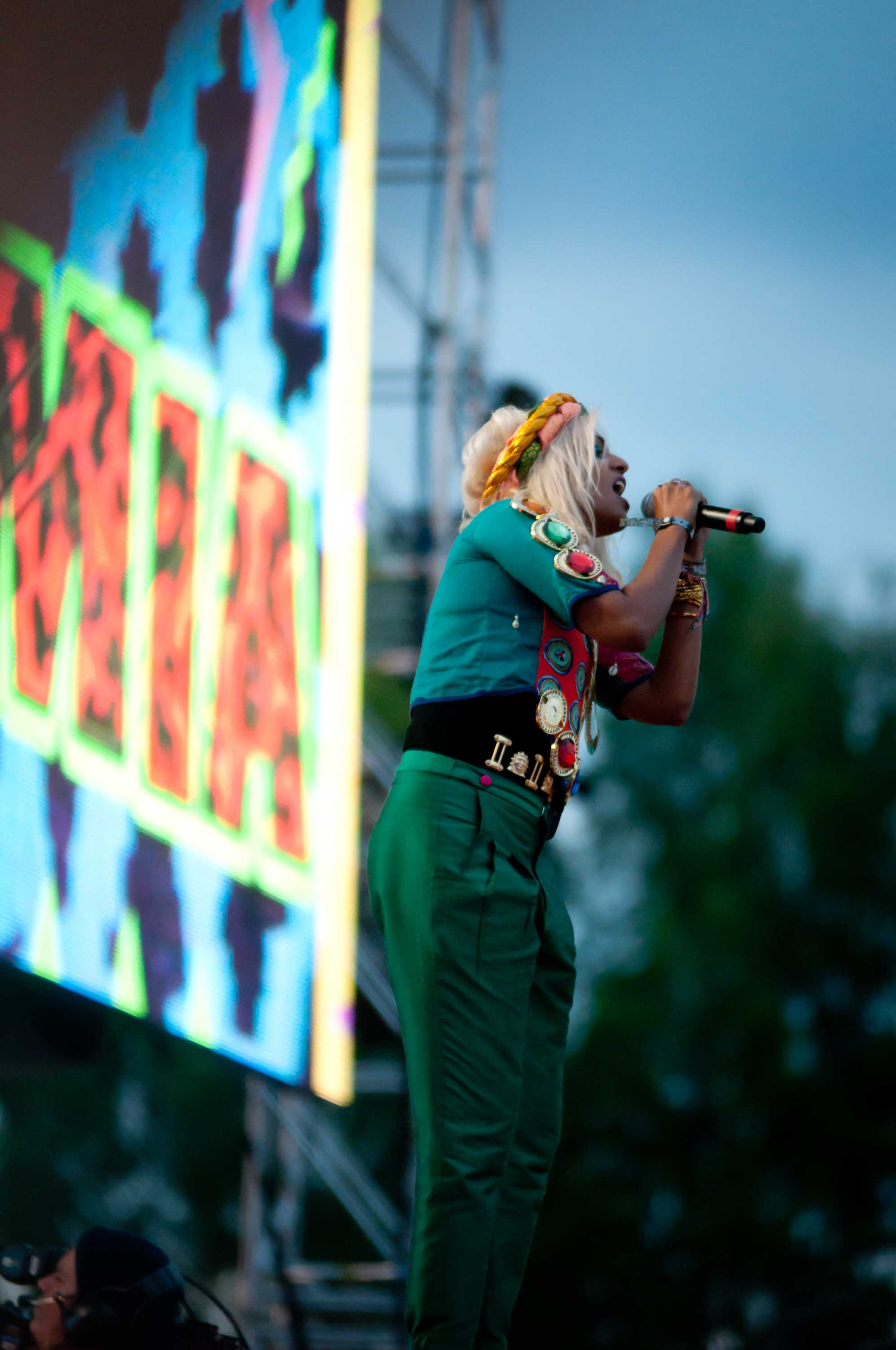 M.I.A. at the 2011 Peace and Love Festival. (possan/Flickr)