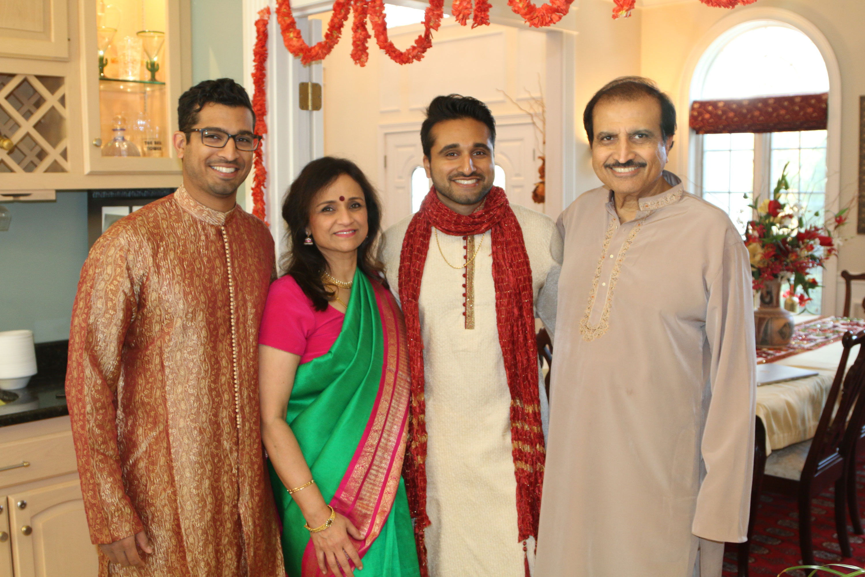 The Pati family a few days before father Mahesh's (far right) diagnosis. (Courtesy of Pati family)
