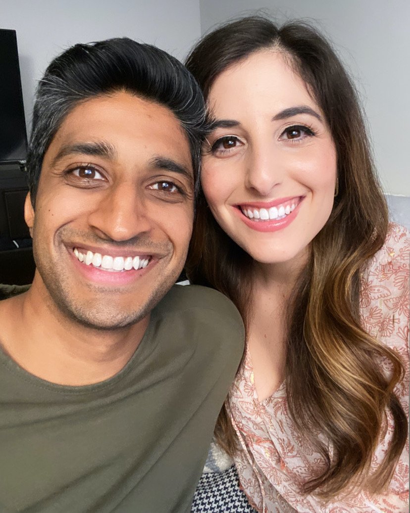 Morgan and Pratish Patel (@hinjewcouple) often post about their intercultural relationship. (Patel family)