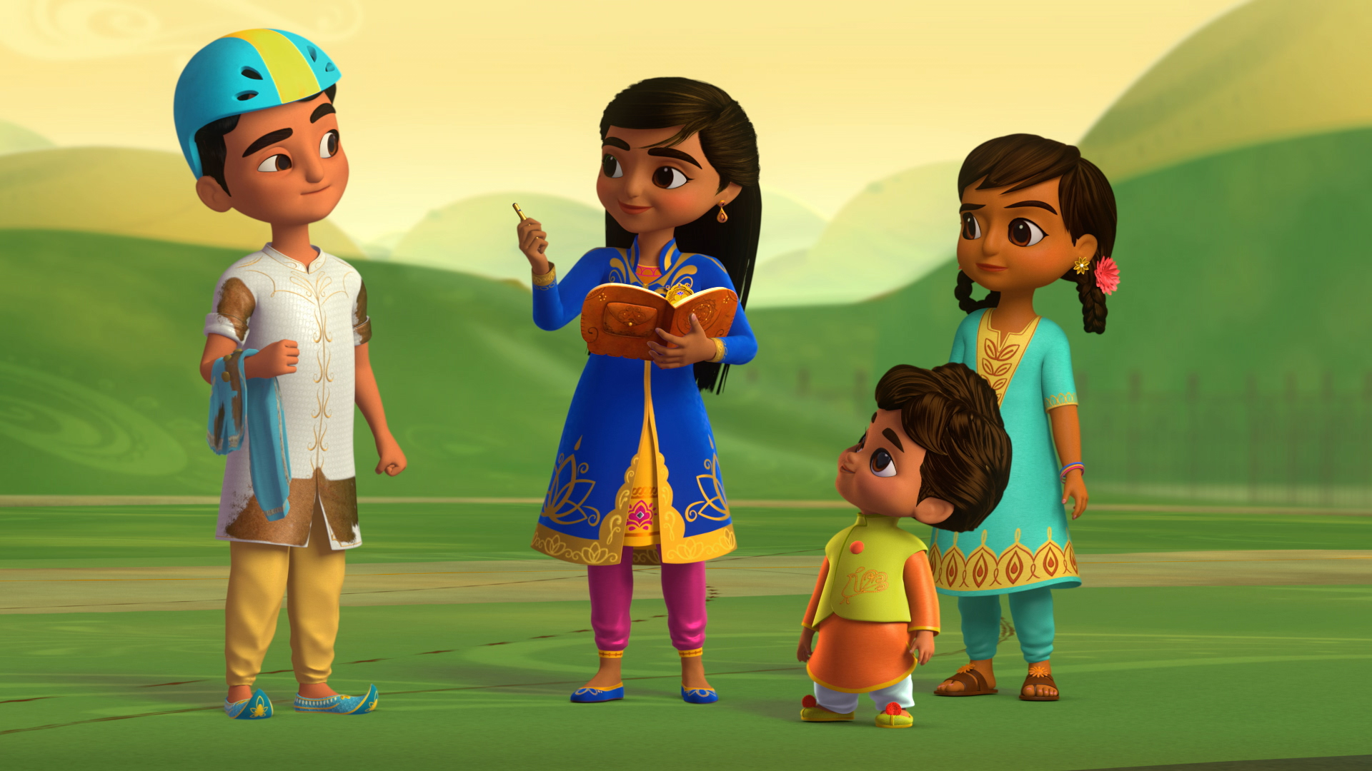 Mira, royal detective, with Prince Veer solving a case (Disney Junior)