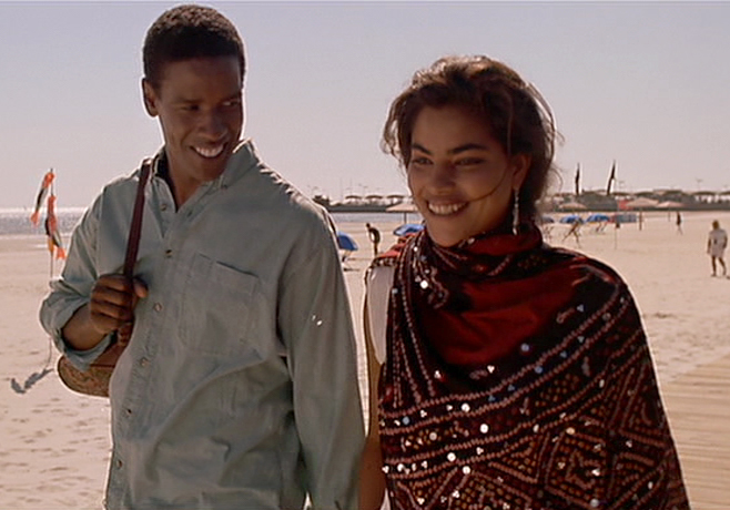 "Denzel Washington and Sarita Choudhury in ""Mississippi Masala"" (Cinecom Pictures)."