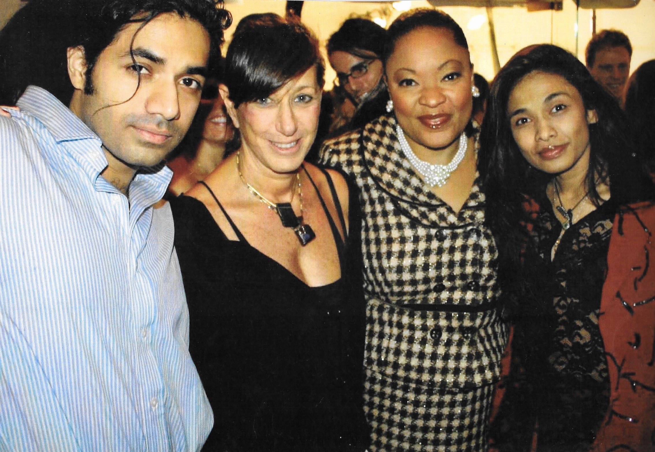 Anand Jon with fashion designer Donna Karan, Cathy Jones, and elder sister Sanjana Jon. (Anand Jon)