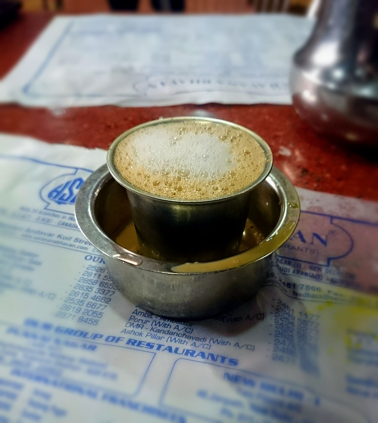 Filter Coffee from Saravana Bhavan