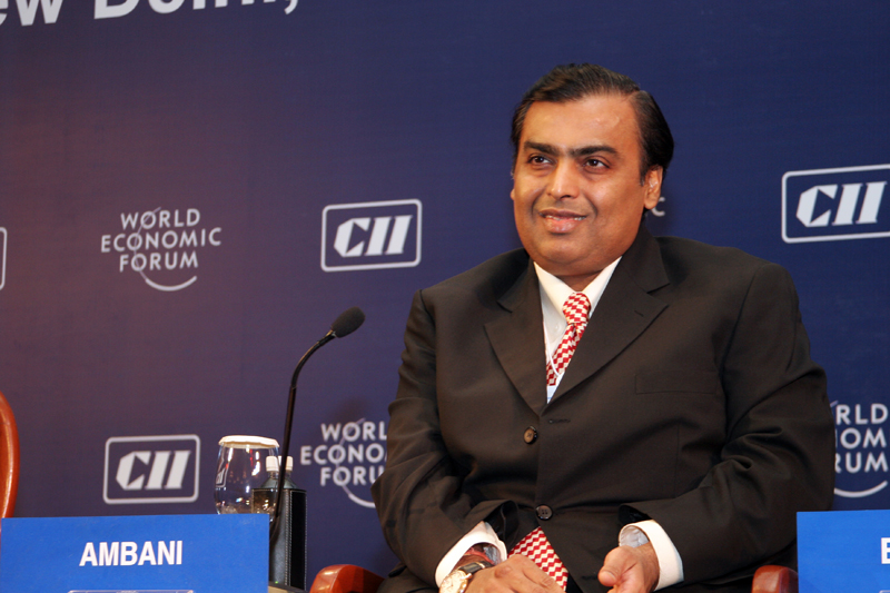 Mukesh Ambani during the World Economic Forum in 2007 (Wikimedia)