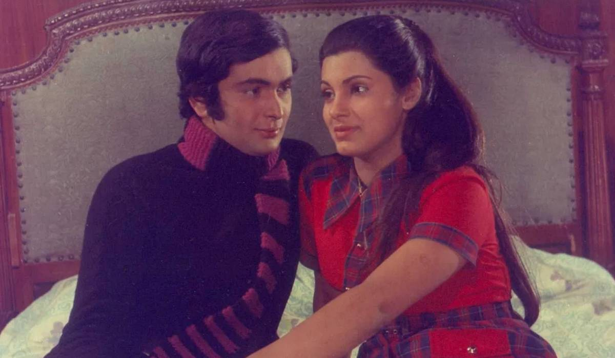 "Rishi Kapoor and Dimple Kapadia in ""Bobby"" (1973)."