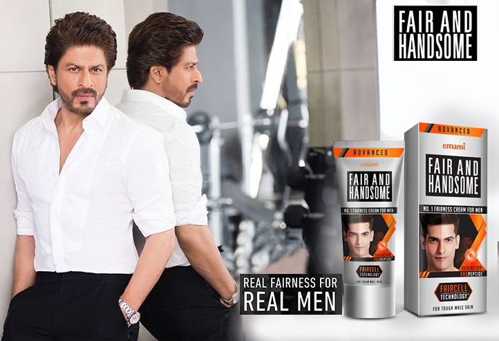 Shah Rukh Khan in a Fair and Handsome ad. (Emami)