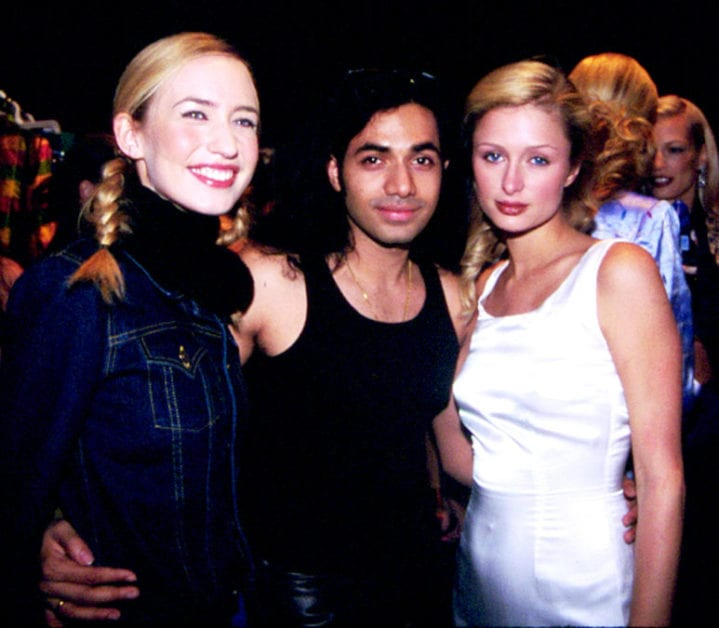 Anand Jon with Elizabeth Jagger and Paris Hilton. (Anand Jon)