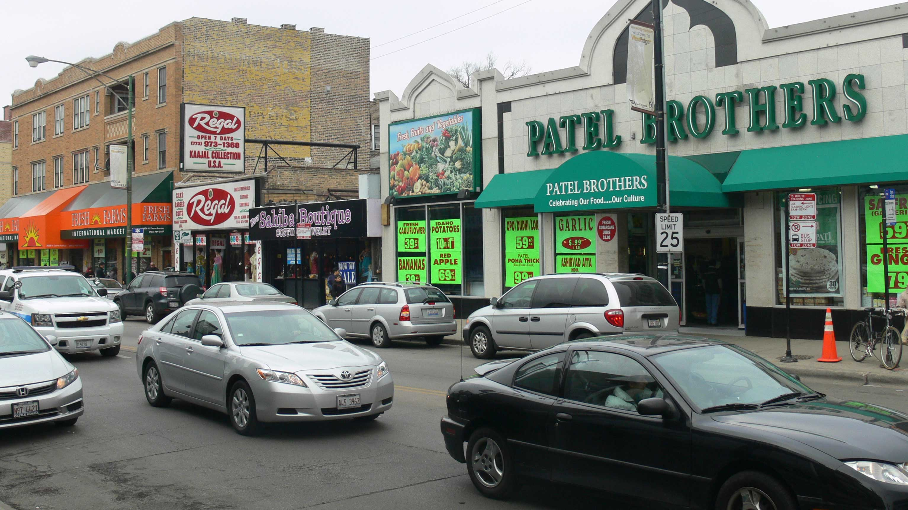Chicago's Devon Avenue corridor has long been the Midwestern city's South Asian hub. (Steve Browne & John Verkleir)