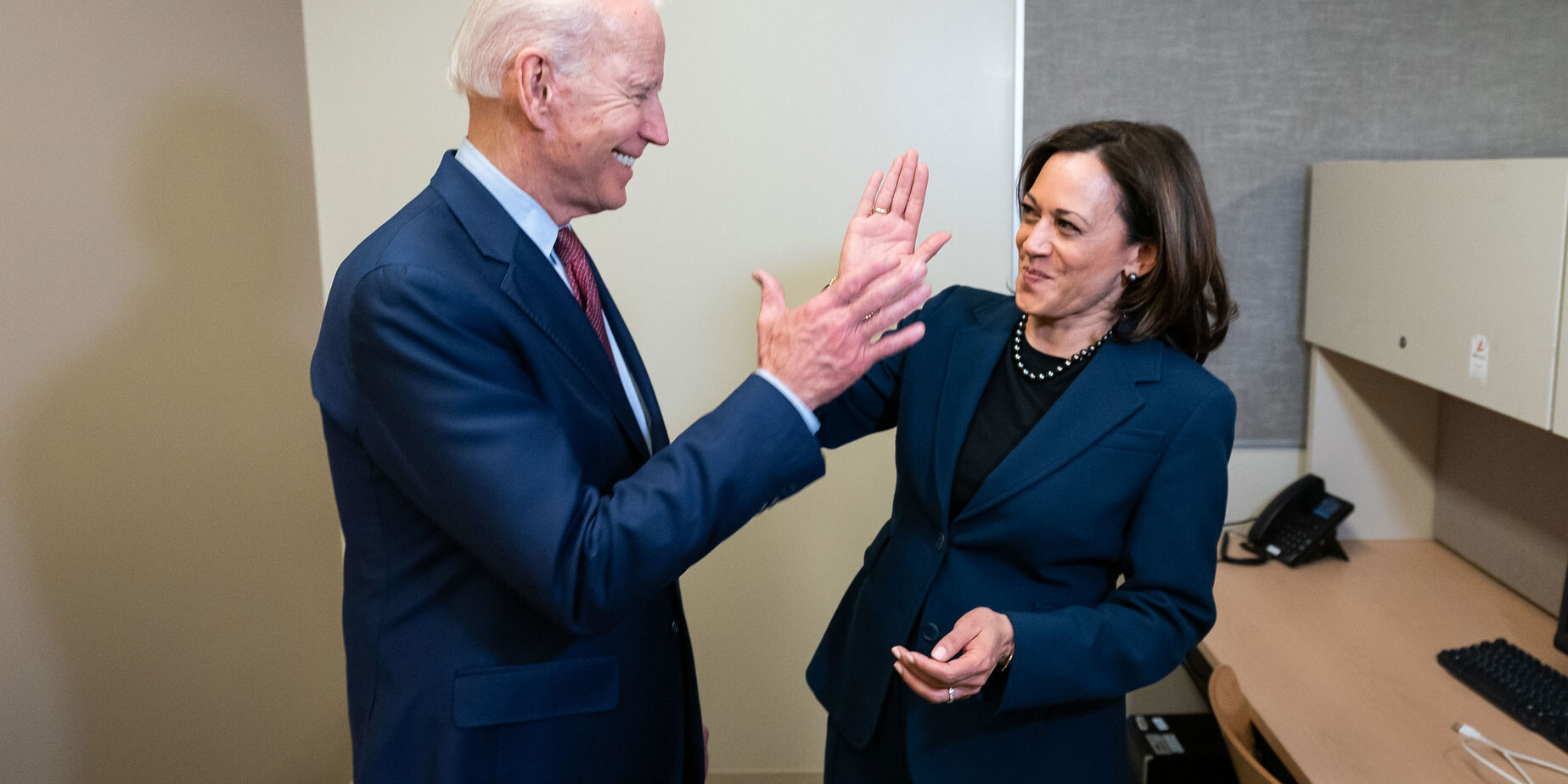 Joe Biden and Kamala Harris will face incumbents Donald Trump and Mike Pence this November. (Biden-Harris campaign)