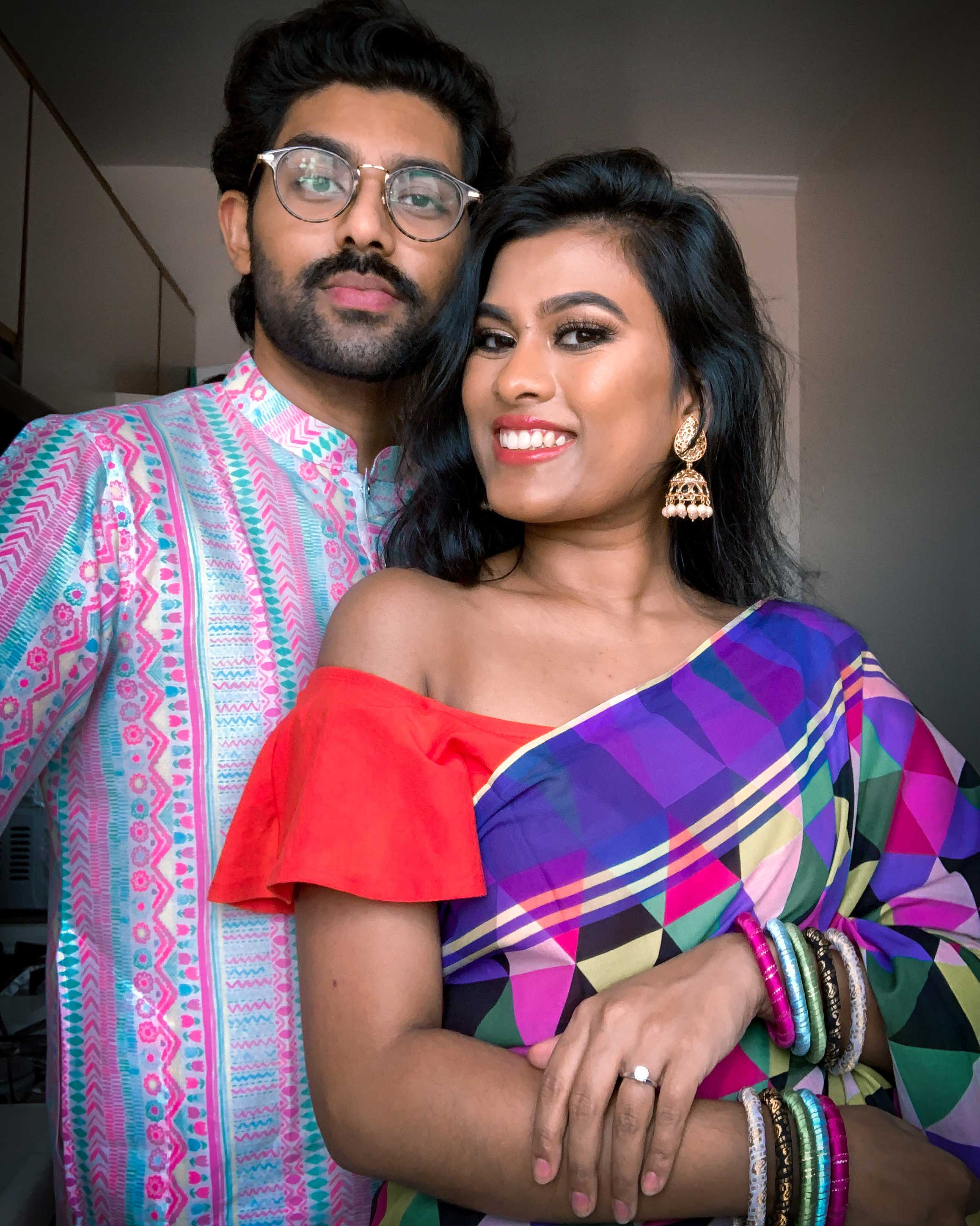 Romy and Taz Chowdhury (@that_brown_couple) often post about their relationship and their Bengali heritage. (Chowdhury family)