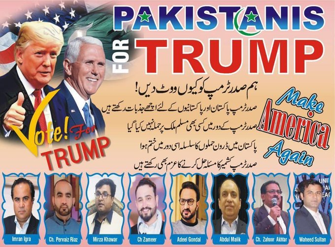 Political poster urging support for Trump (Naimat Khan, via Twitter)