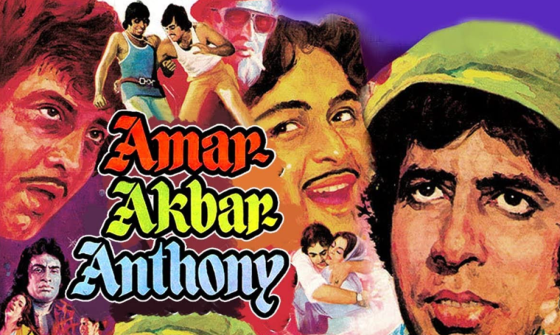 Poster of Bollywood film Amar, Akbar, Anthony (1977)