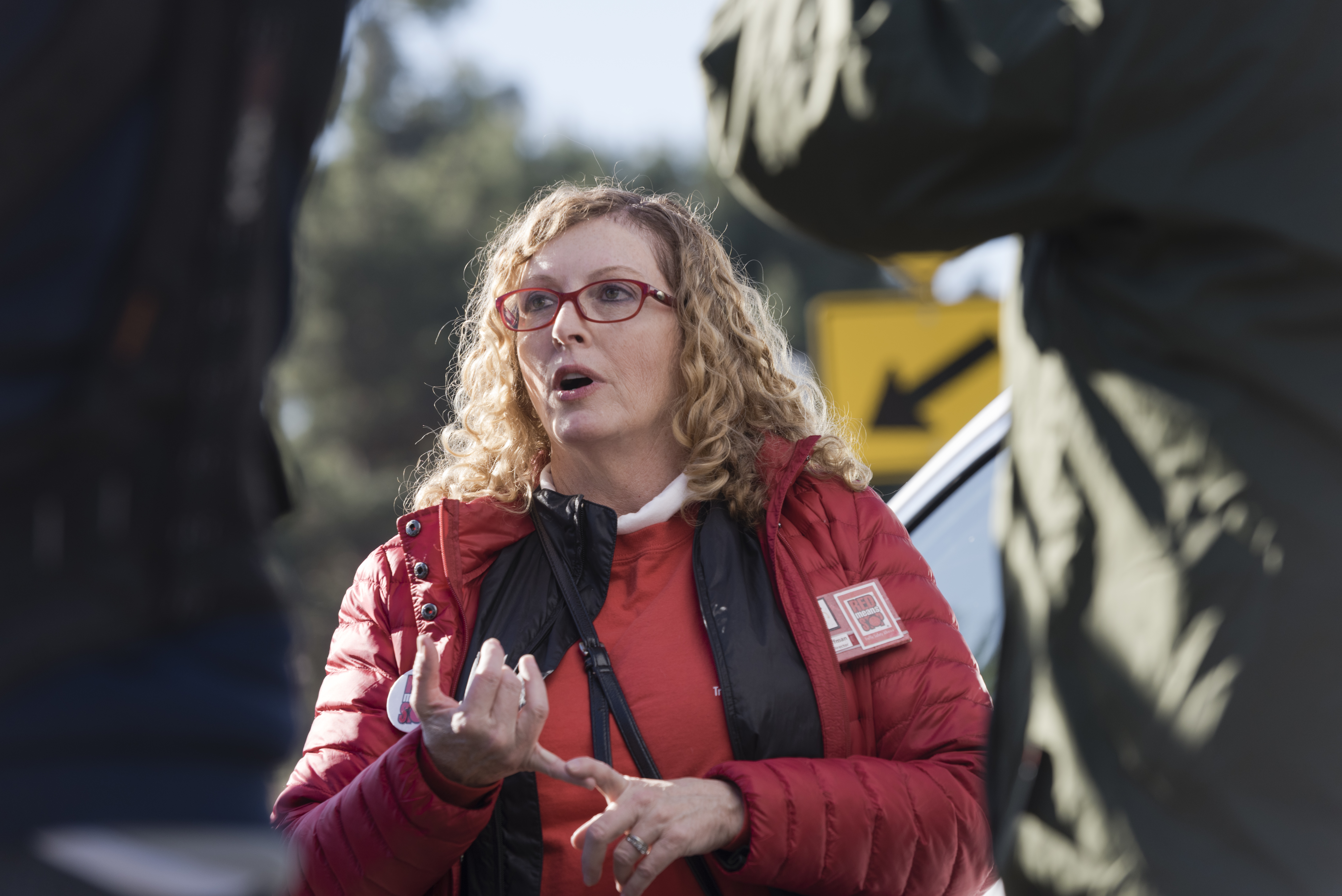 Barb Hoffman of Red Means Stop Traffic Safety Alliance