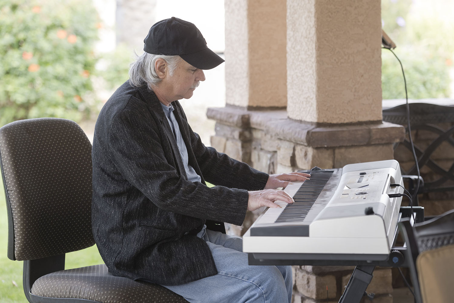 Brian playing the piano