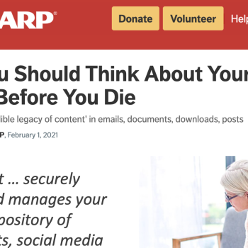AARP: Think About Your Digital Assets Before You Die
