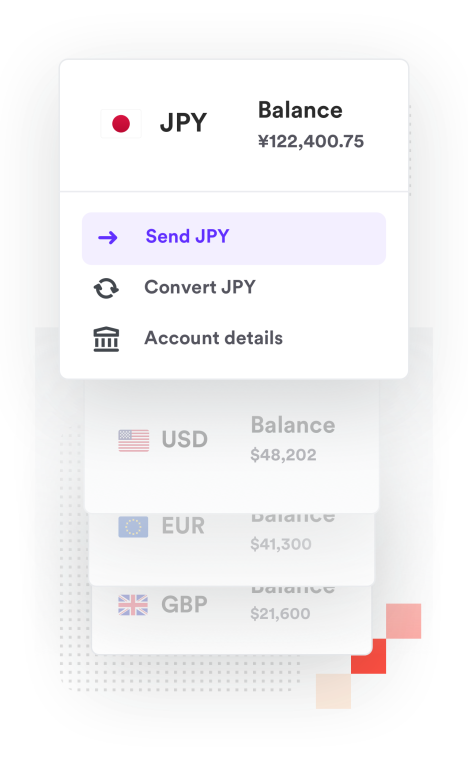 Payments being sent in multiple currencies across the globe