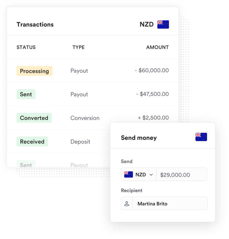 Money being sent to Australia from an NZ bank account