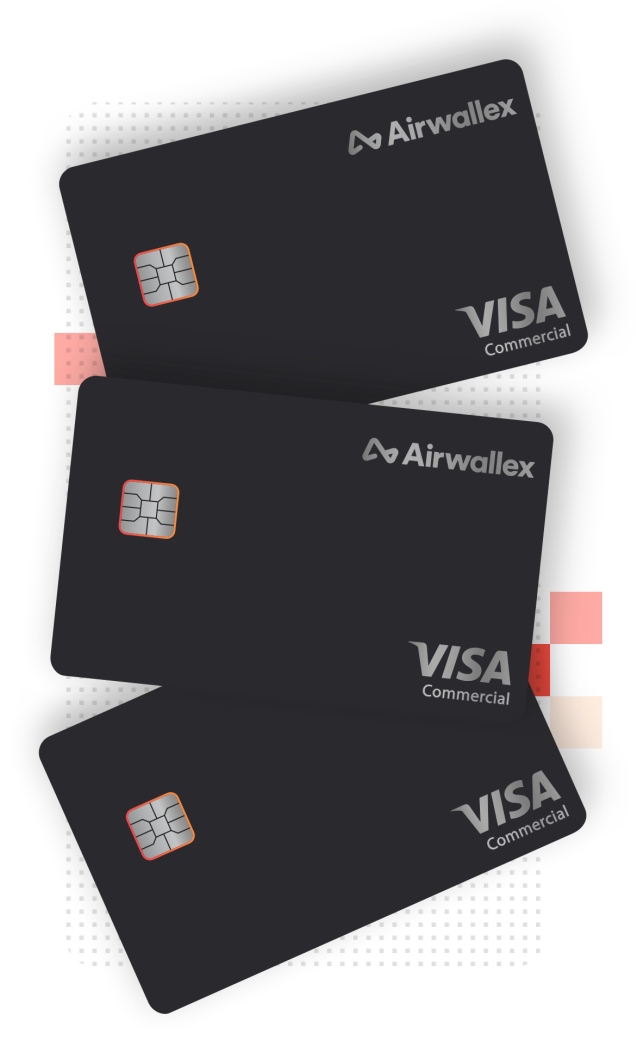 Virtual Visa cards for business being created online via the Airwallex platform