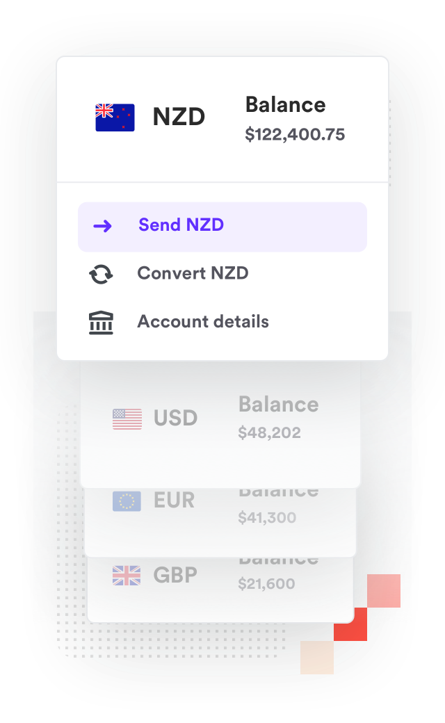 New Zealand dollar bank account sending money to NZ