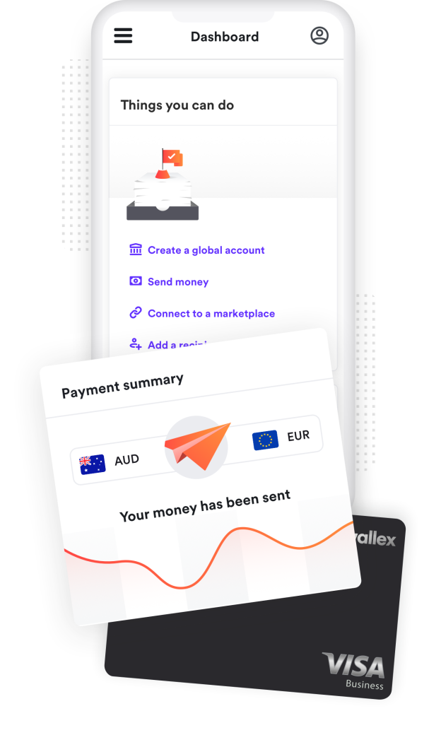 screenshot of the Airwallex platform sending money to Europe from Australia