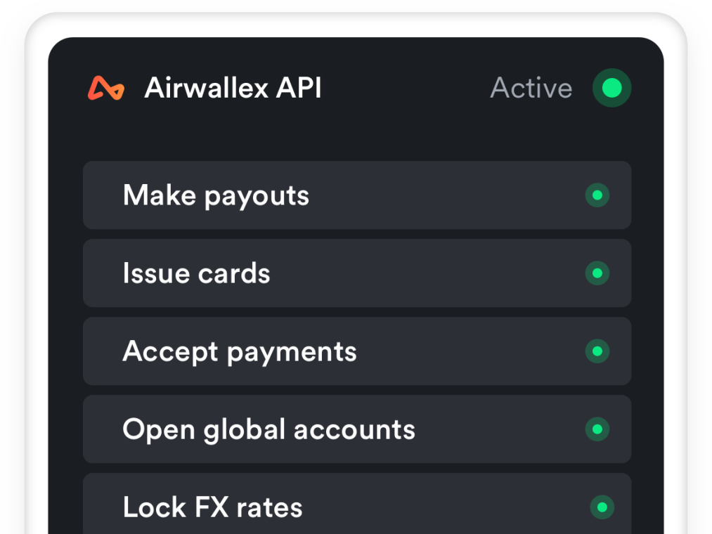 Screenshot of API settling AUD invoice