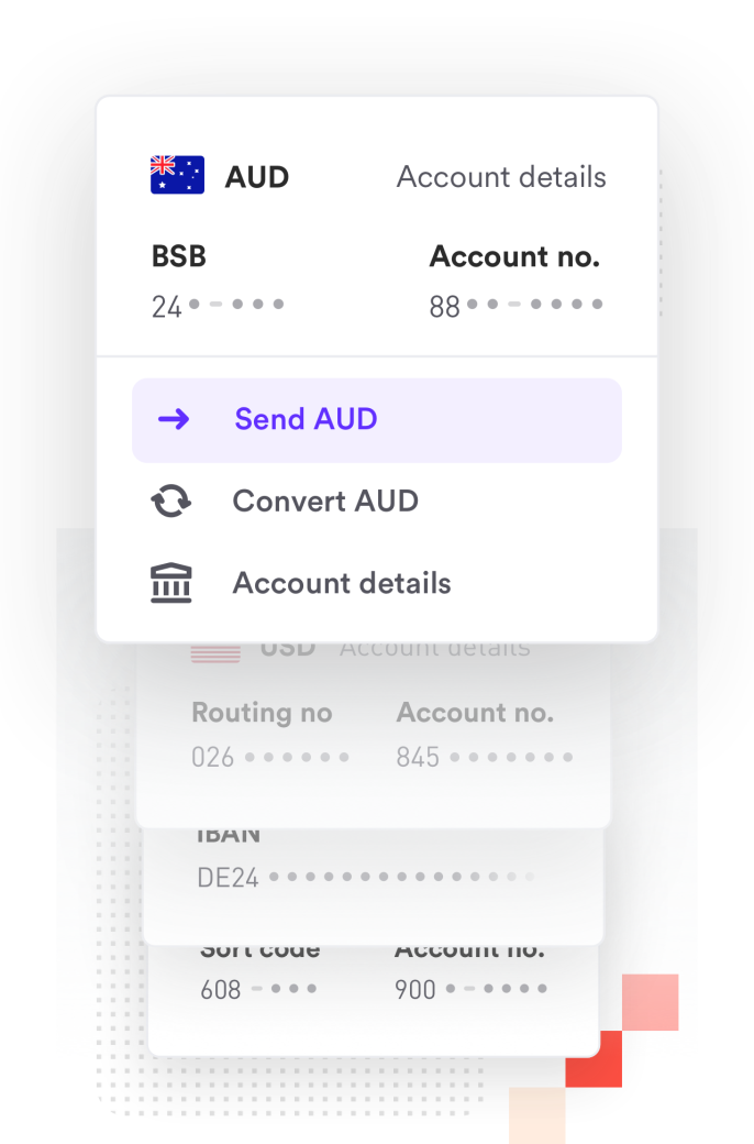 AUD bank account receiving funds into the Airwallex Platform