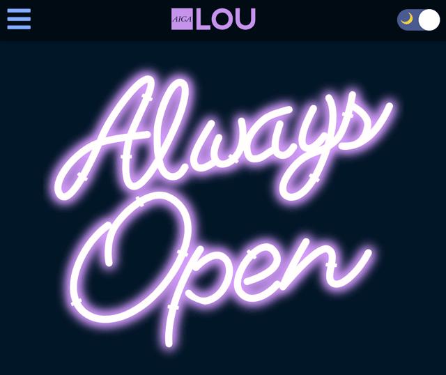 always open neon lights