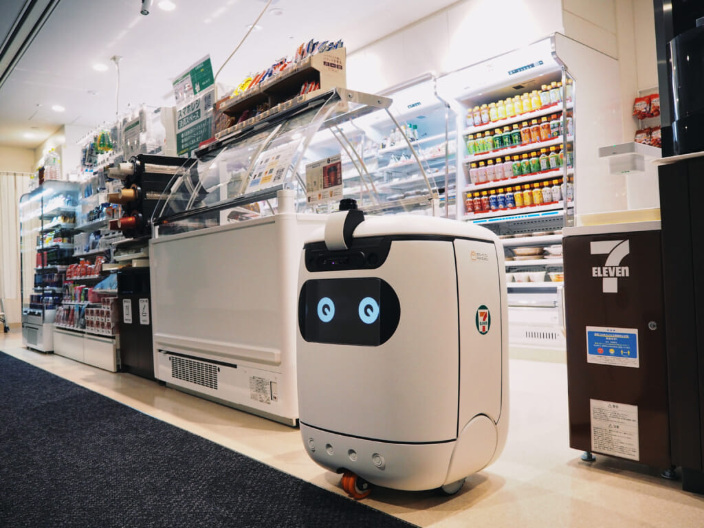 Rice is now at Softbank headquarters delivering for Seven-Eleven Japan - Rice Robotics