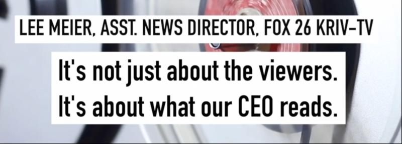 "elle2 BREAKING: Fox 26 Reporter Releases tape of 'Corruption,' 'Censorship.' Fox Corp Boss told Hecker ""cease & desist"""