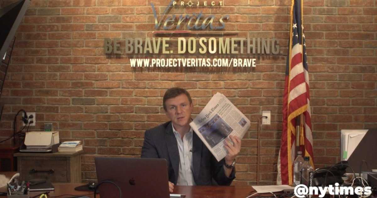 James O'Keefe Demands New York Times Retract Hit Piece on Veritas' Minnesota Ballot Harvesting Investigation … 'We Are Not Afraid of The New York Times Or Anyone Else'…'We Will Have Our Day In Court, And We Will Win'