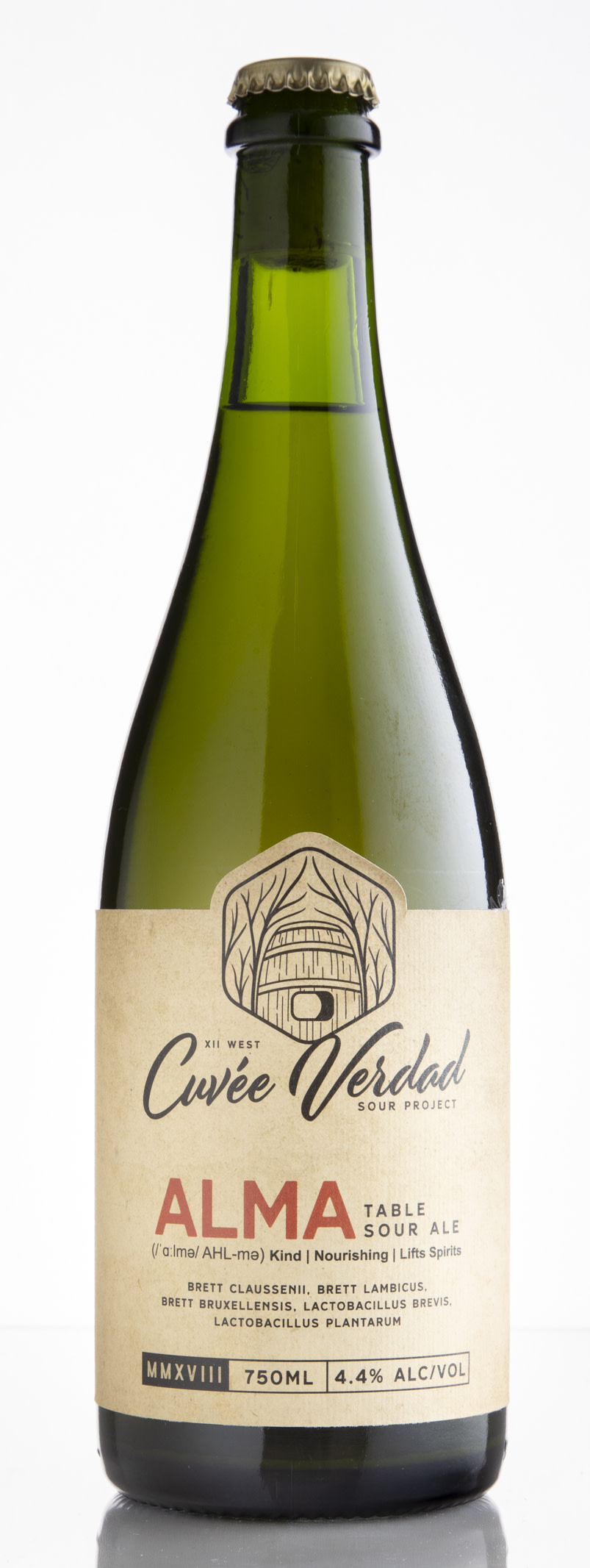"""Light and slightly sweet with a soft funk and cantaloupe/honeydew-melon notes. The gentle acidity is well-balanced with the funk and sweetness making for a flavorful (if a touch sweet) sipper."""