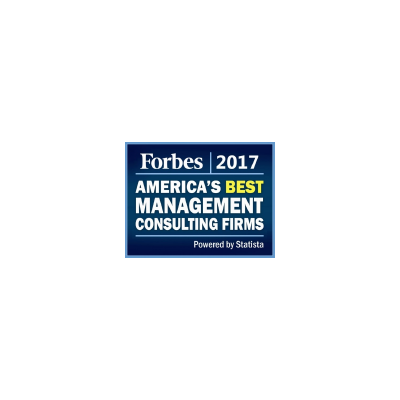 Forbes Best Management Consulting Firms award logo from 2017