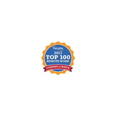 FlexJobs' 100 Top Companies with Remote Jobs awards logo from 2017