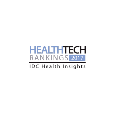 IDC Health Insights' HealthTech Rankings award logo from 2017