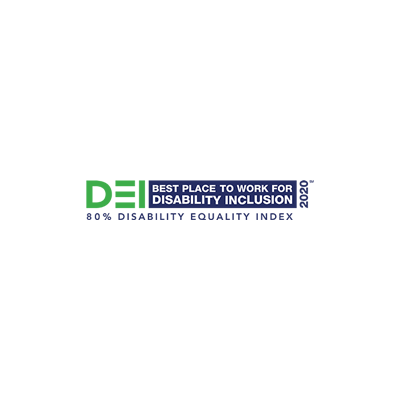 DEI Best places to work for disability inclusion award logo