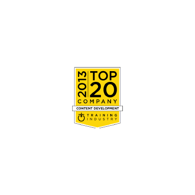 Training Industry's Top 20 Content Development Companies logo