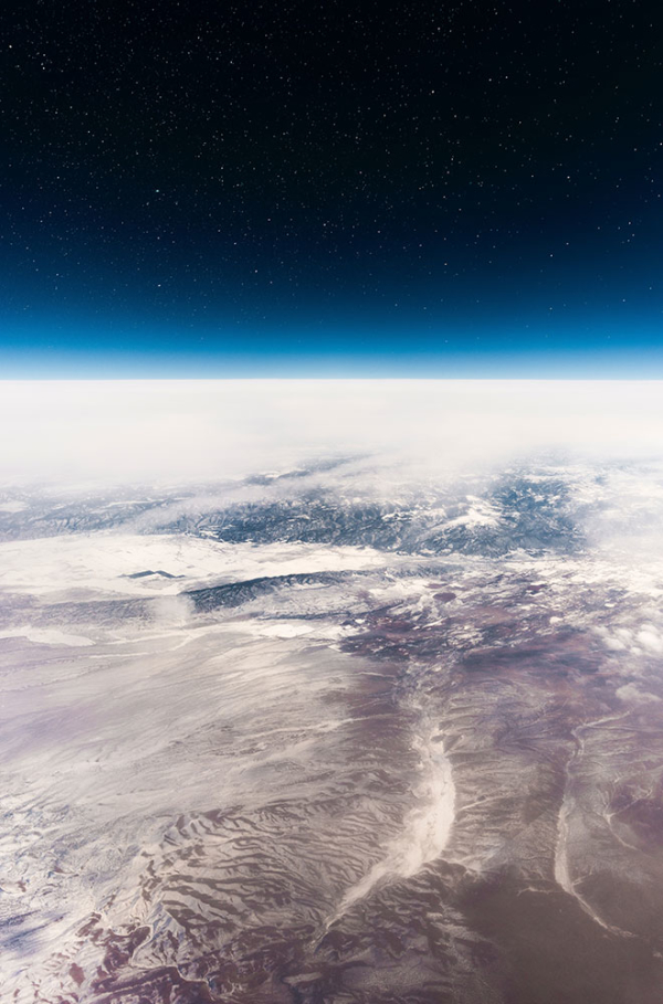 Horizon of earth from space