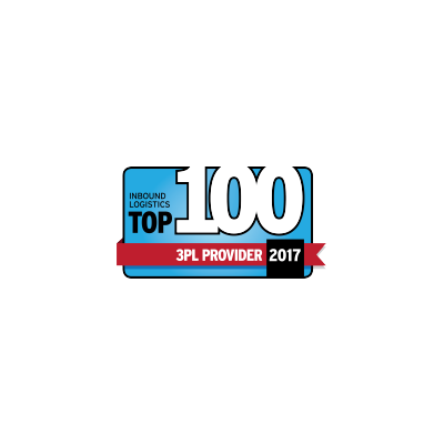 InBound Logistics Top 100 3PL Provider award logo from 2017