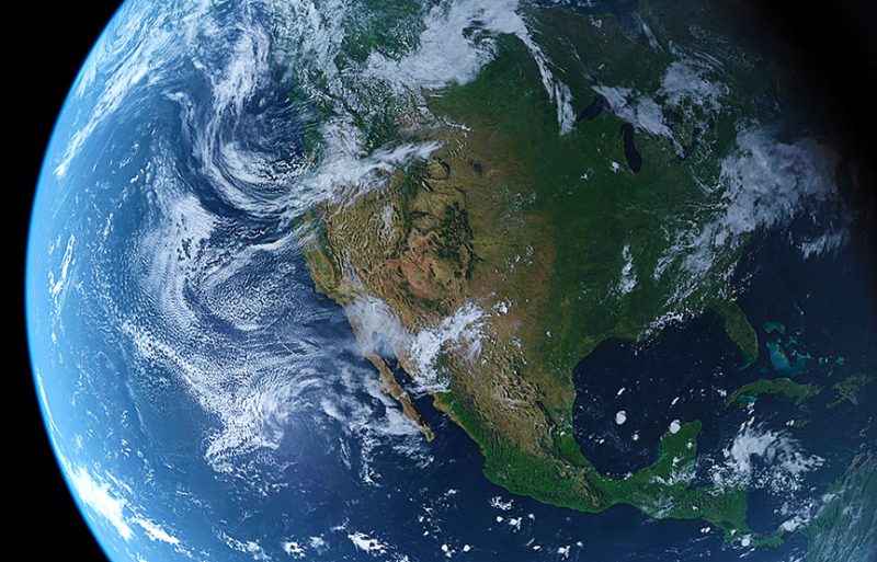 earth showing north america