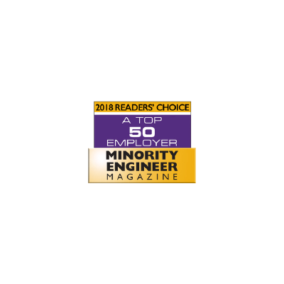 Minority Engineer Magazine's Top 50 Employer logo