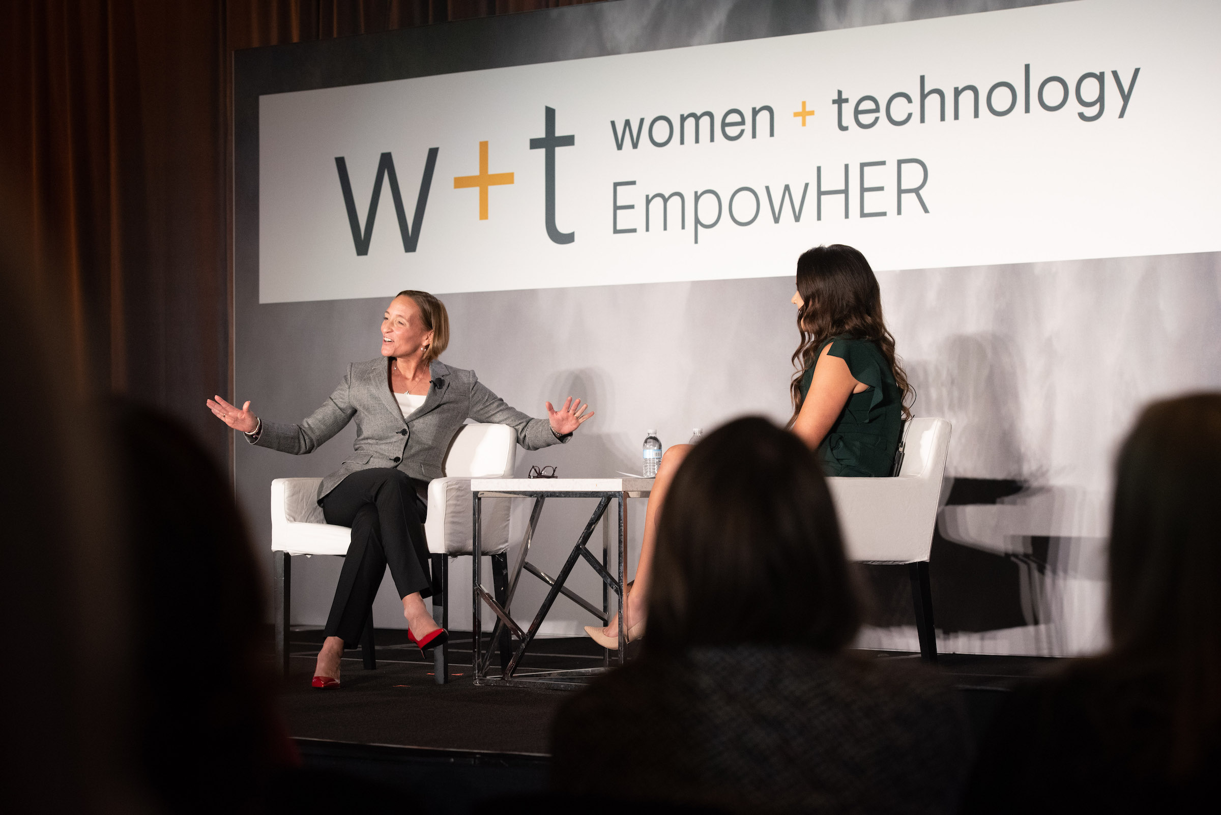 Amy Gilliland and Nisa Moore speaking at Women + Technology 2019
