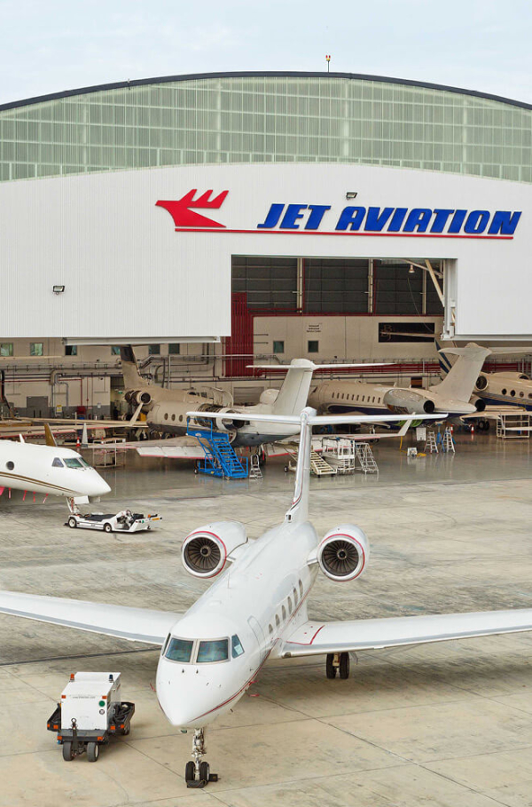 Jet Aviation Airplane Hanger