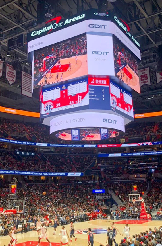 Washington wizards scoreboard
