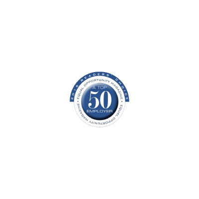 Equal Opportunity Magazine's Top 50 Employers logo