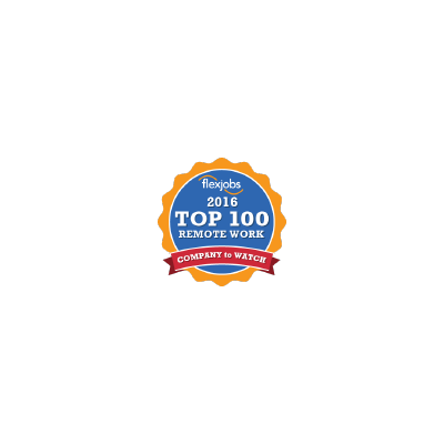 FlexJobs' 100 Top Companies with Remote Jobs logo