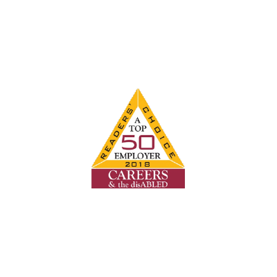Top 50 Employers from the Careers & The Disabled Magazine logo