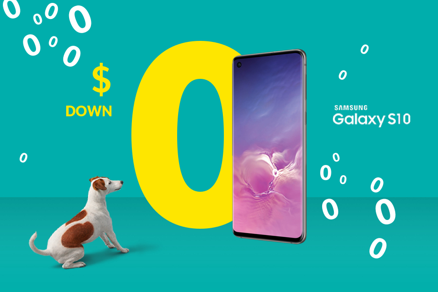 Pay zero upfront for the Samsung S10  with Fido Payment Program .