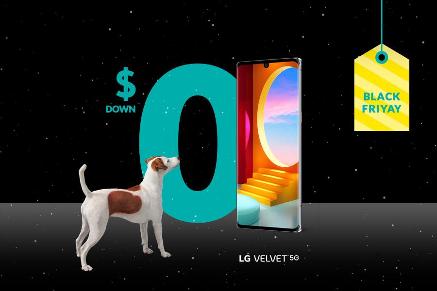 Get the LG Velvet for $0 down