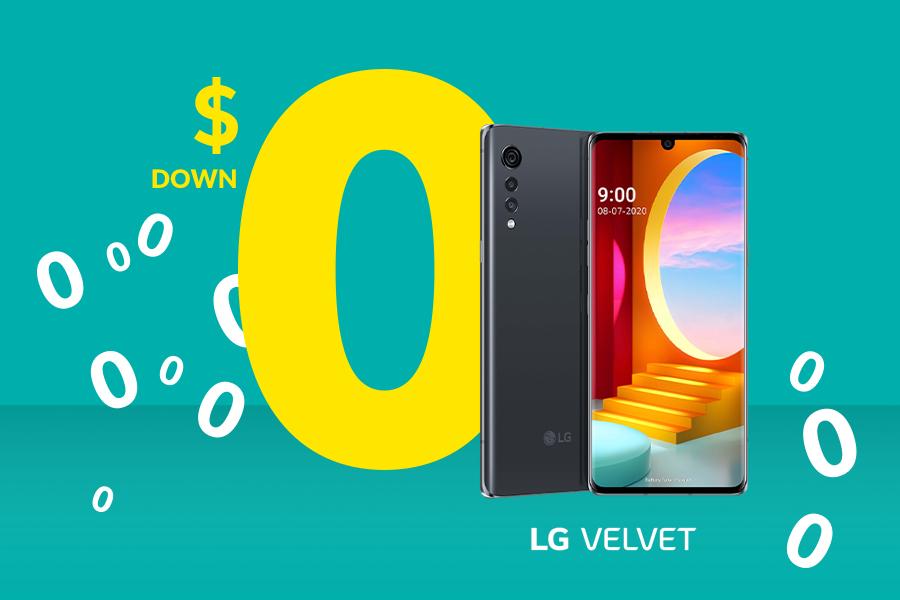 The LG Velvet 5G from Fido